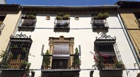 Alte Balkone Granadas Stockfotos