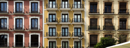 Alte Balkone Granadas Stockbilder
