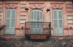 Alte Balkone Tifliss Lizenzfreie Stockbilder