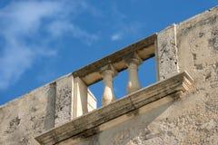 Alte Balustrade - Ortygia-Insel Syrakus Italien Stockfotos