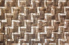 Alte Bambushandwerksbeschaffenheit Lizenzfreies Stockfoto