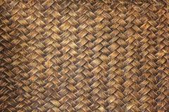 Alte Bambushandwerksbeschaffenheit Stockfotografie
