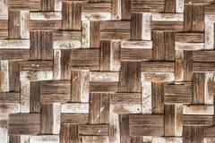 Alte Bambushandwerksbeschaffenheit Stockbilder