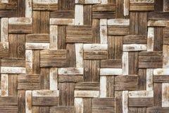 Alte Bambushandwerksbeschaffenheit Stockbild