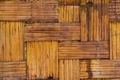Alte Bambusmusterwandbeschaffenheit Lizenzfreie Stockbilder