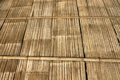Alte Bambuswand Und Bodenholz stockfotografie