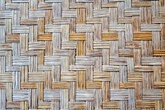 Alte Bambuswebartmattenbeschaffenheit Lizenzfreies Stockbild