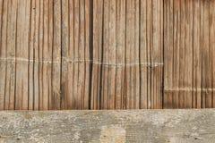 Alte Bambuswebartwände Lizenzfreie Stockfotografie