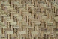 Alte Bambuswebartwand Lizenzfreies Stockbild