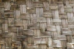 Alte Bambuswebartwand Lizenzfreie Stockfotos