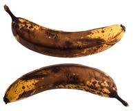 Alte Banane des dunklen Brauns Lizenzfreies Stockfoto