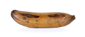 Alte Banane lokalisiert auf dem weißen Hintergrund Stockfotografie