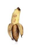 Alte Banane lokalisiert auf dem weißen Hintergrund Stockbild