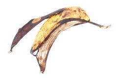 Alte Bananenschale, getrennt auf Weiß Stockfoto