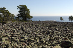 Alte banche della riva della costa Fotografie Stock Libere da Diritti