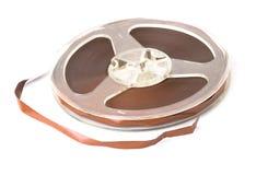 Alte Bandspule des Magnetbands für Tonaufzeichnungen Stockfotografie