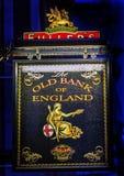 Alte Bank-England-Kneipen-Stadt-Finanzbezirk London England Lizenzfreies Stockbild