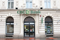 Alte Bankfiliale Stockbild