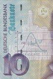 Alte Banknote der DM-zehn, Bill Lizenzfreie Stockbilder