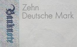 Alte Banknote der DM-zehn, Bill Stockfoto
