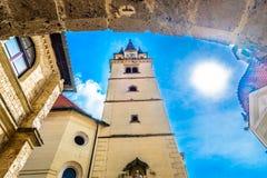 Alte barocke Kathedrale in Marija Bistrica, Kroatien Lizenzfreie Stockbilder