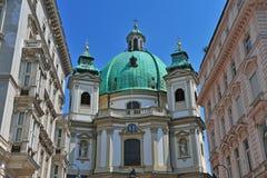 Alte barocke Kirche Lizenzfreies Stockfoto