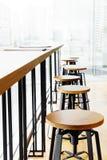 Alte barra e sedia moderne della tavola Fotografie Stock Libere da Diritti