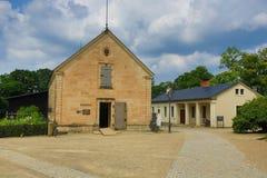 Alte barraks, Tor-Haus, Koenigstein-Festung, Deutschland Lizenzfreie Stockbilder