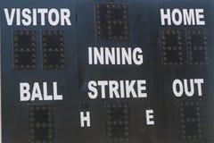 Alte Baseball-Anzeigetafel Stockbild