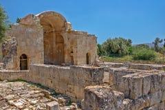 Alte Basilika in Gortys, Kreta, Griechenland Lizenzfreie Stockfotografie