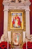 Alte Basilika Guadalupe Altar Mexiko City Mexiko Lizenzfreie Stockfotos