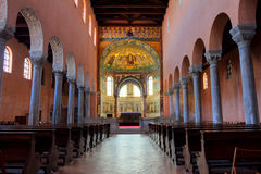 Alte Basilika in Porec, Kroatien stockbild