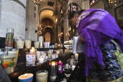Alte Basilika von Guadalupe Stockfoto