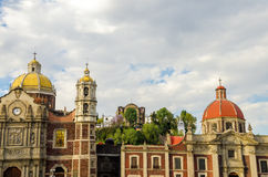 Alte Basilika von Guadalupe Lizenzfreies Stockbild