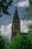 Alte Basilika von St Peter und von Saint Paul, Vysehrad, Prag, C Lizenzfreie Stockfotografie