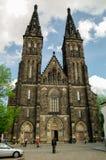 Alte Basilika von St Peter und von Saint Paul, Vysehrad, Prag, C Lizenzfreies Stockbild