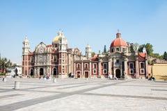 Alte Basilika von unserer Mary von Guadalupe, Mexiko City Stockfotos