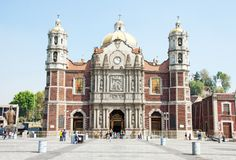 Alte Basilika von unserer Mary von Guadalupe, Mexiko City Lizenzfreies Stockfoto