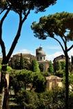 Alte Basilikakirche Santi Giovanni e Paolo, Rom, Italien Lizenzfreies Stockbild