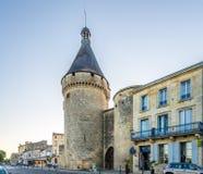 Alte Bastion von der Festung von Libourne-Stadt Lizenzfreie Stockbilder