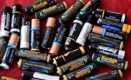 Alte Batterien Stockbild