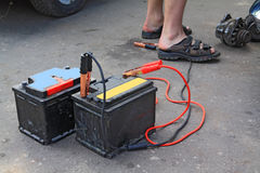 Alte Batterien Stockfotografie