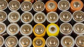Alte Batterien für die Wiederverwertung Stockfotografie