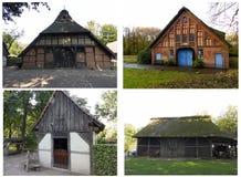 4 alte Bauernhäuser in Deutschland stockfoto