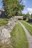 Alte Bauernhof-Landschaft Stockfotos