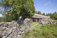 Alte Bauernhof-Landschaft Stockfotografie