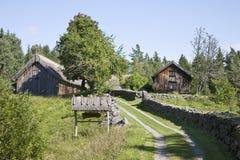 Alte Bauernhof-Landschaft Lizenzfreies Stockfoto