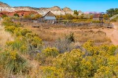 Alte Bauernhof-Scheune in Utah Lizenzfreie Stockbilder