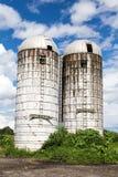 Alte Bauernhof-Silos Lizenzfreies Stockfoto