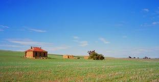 Alte Bauernhofhausruinen Stockbild